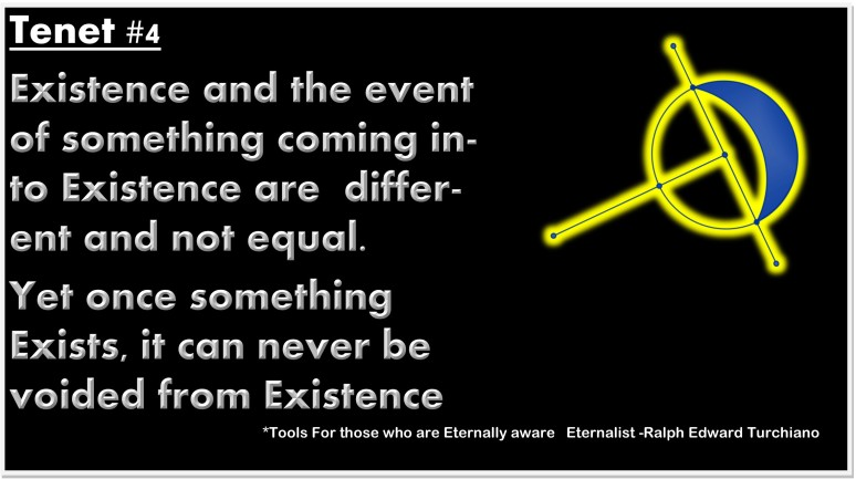 Tools For those who are Eternally aware Eternalist -Ralph Edward Turchiano Aperiophobia