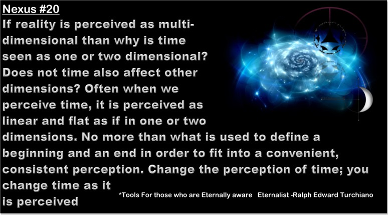 *Tools For those who are Eternally aware   Eternalist -Ralph Edward Turchiano